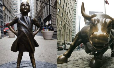 Fearless Girl stands up to Wall Street Bull